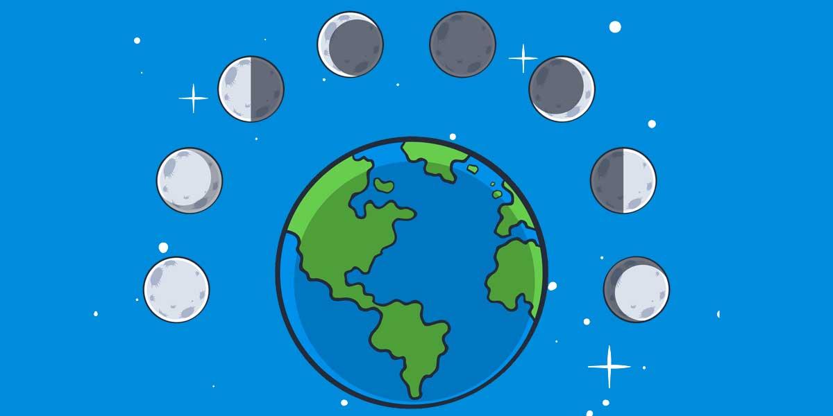 por que vemos diferentes fases de la luna 1º ESO
