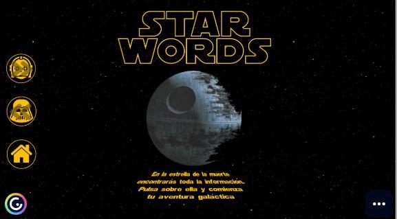 Recurso interactivo Practica ortografía con STAR WORDS