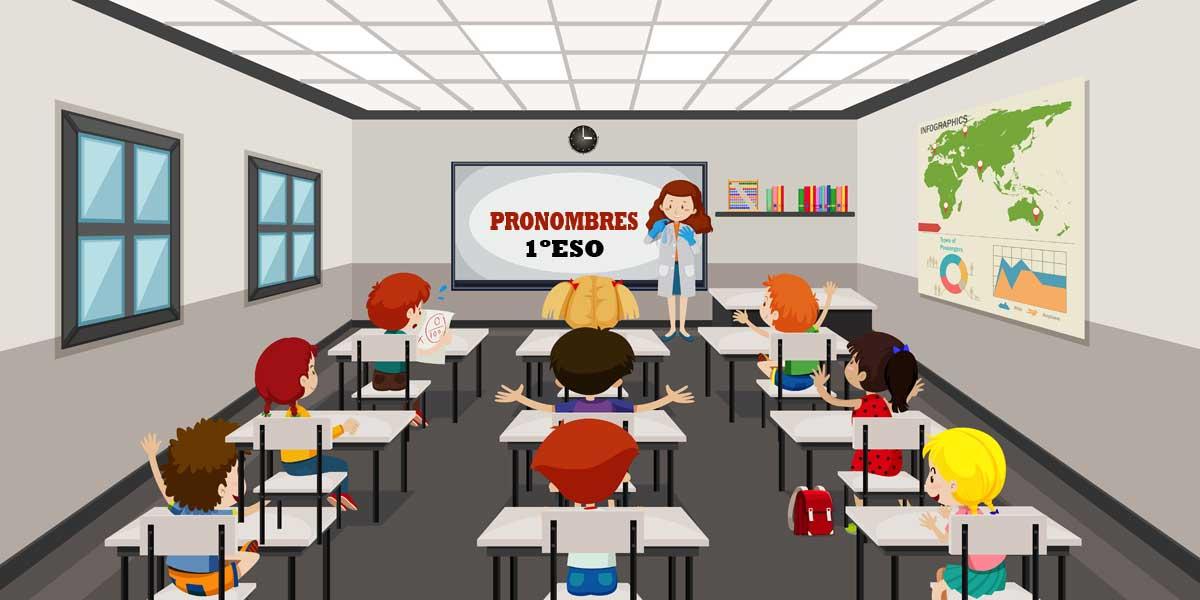 Ejercicios de pronombres 1 ESO para imprimir