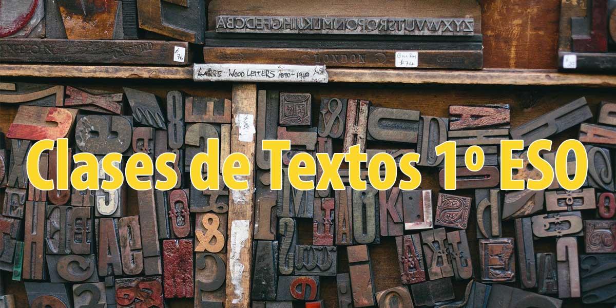 Vídeo Entrada: Clases de textos asignatura 1º ESO Lengua